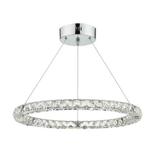 Roma Single Tier Pendant Crystal Polished Chrome Led Dimmable (Double Insulated) BXROM1750-17